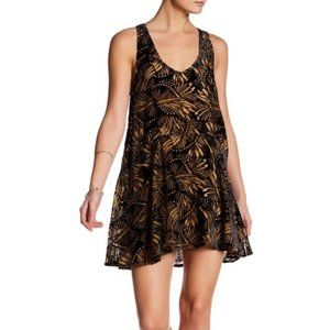 NWT Free People Ellie Burnout Velvet Minidress